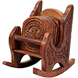 Craftgasmic Rocking Chair Wooden Coaster(6 Pcs.) - 13X14X11 Cm, Brown …(Gift For Christmas)