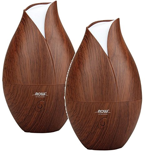 Now Foods Ultrasonic Wood Grain Oil Diffuser, 1.6 Pound (Pack of 2 Diffusers)
