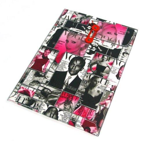 【全4柄】Macbook air 11.6用封筒レザーポーチ ケース インナーケース ヨーロッパ風 雑誌表紙仕様 マゼンタ PU Leather case for Macbook air 11.6 (1599-2)