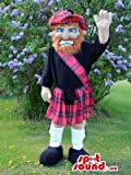 Scottish Man Mascot SpotSound US With A Red Beard Dressed In A Kilt