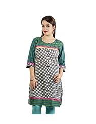 Rama Cotton Multi Printed Knee Length Kurti (14RAMA1421076)