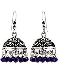 Big High Quality German Silver Dangle & Drop Oxidized Silver Metal Jhumki Earrings For Girls And Women (Gift)...