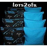 BackYardGamesUSA CORNHOLE BEAN BAGS W CAROLINA PANTHERS Fabric On Both Sides Of Logo Bags NEW!!