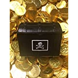Pirates Treasure Chest Filled With 50 Large Gold Chocolate Coins