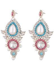 Bel-en-teno Pink & Blue Alloy Earring Set For Women - B00PY9X978