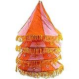 Rose Applique Cotton Kalasa Lantern (20 Cm X 20 Cm X 85 Cm)