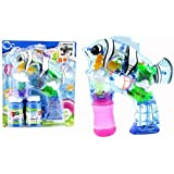 Flashcopter One Light Up Bubble Gun With Two Refill Bubbles, Batteries Included