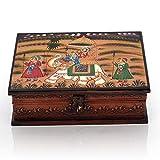 Shopnetix Wooden Hand Painted Dhola Maru Jewellery Box