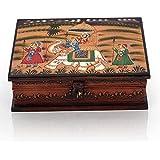 Jaipur Crafts Wooden Hand Painted Dhola Maru Jewellery Box