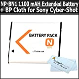 Replacement Sony NP-BN1 (1100 MAH) Extended Rechargeable Battery For Sony Cyber-Shot DSC-TX10 Digital Camera For...