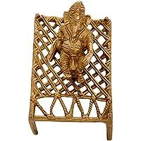 Aone India Brass God Ganesha Sitting On Charpai Idol Statues (11 X 8 X 8 Cm, Golden + Cash Envelope (Pack Of 10)