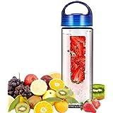 Gogogu Fruit Infuser Water Bottle 25 Oz BPA-Free Tritan Plastic Infusion Sports Water Bottle, Create Naturally...