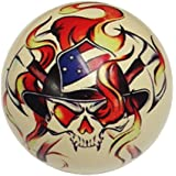 Firefighter Skull Cue Ball Custom For Pool Players By D&L Billiards