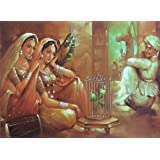 "Dolls Of India ""Caged Beauty"" Reprint On Paper - Unframed (41.91 X 31.75 Centimeters)"