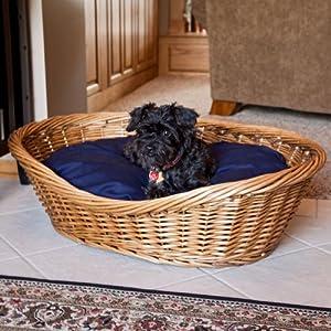 Amazon.com : Snoozer Wicker Dog Basket and Bed, Medium