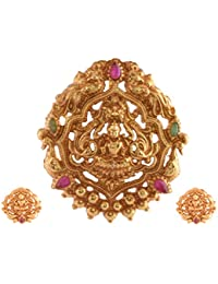 Ganapathy Gems 1Gram Gold Plated Lakshmi Pendant Set (7891)