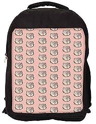 Snoogg Cute Kitty Formation Backpack Rucksack School Travel Unisex Casual Canvas Bag Bookbag Satchel