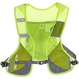 Segolike Unisex Running Cycling Vest Backpack Sports Hydration Water Bladder Bag & Reflective Strips & Bottle...