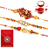 Priglobal PVT LTD   Rakhi For Brother   Handcrafted Work Special 3 Pc Rakhi Gift For Brothers