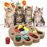 Alcoa Prime Eco-friendly Pet Cat Dog Interactive Toys Food Treated Wooden Pet Feeder Educational Pet Bone Paw Puzzle Toys For Babys & Pet