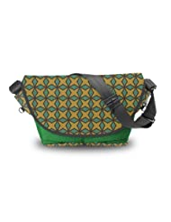 Atrangee Arabian Nights Messenger Bag (Green, Black)