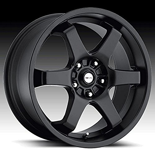 Focal X 16 Black Wheel / Rim 5×4.5 & 5×4.25 with a 42mm Offset and a 73 Hub Bore. Partnumber 421-6714B+42