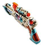 Techege Toys Fun Toy Gun with Colorful Flashing and Spinning Lights and Fun Shooting Sounds- Also Has a Red Laser to Focus Aim, Surely Keeping Children Entertained for Hours