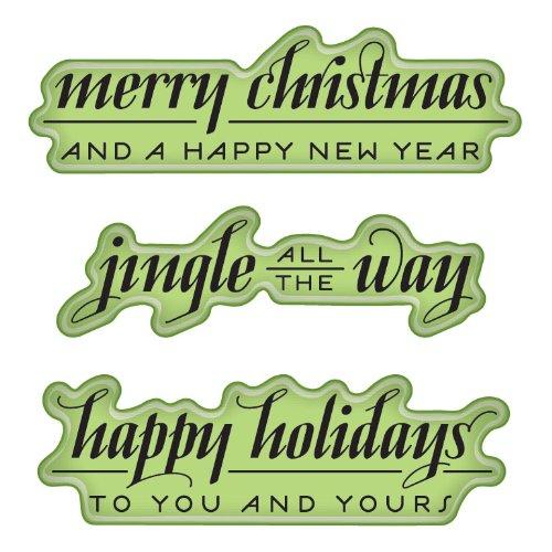 Inkadinkado Cling Stamps Holiday Greetings