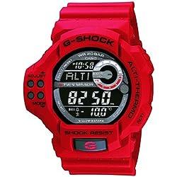 Casio G Shock Twin Sensor Digital Red Resin Watch GDF100-4E