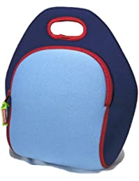 Dabbawalla Bags Kids & Adults Blue Insulated Washable & Eco Friendly Lunch Bag Tote Blue/Red By Dabbawalla Bags