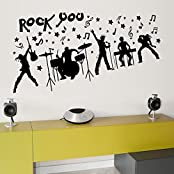 Oren Empower Music Band Large Wall Sticker (Wall Covering Area - 70 Cm X 140 Cm)