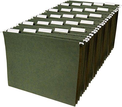 AmazonBasics Hanging File Folders - Letter Size (25 Pack) - Green