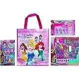 Disney Childrens Cosmetic Gift Set Includes Disney Princess Tote Bag With Disney Princess 8 Pcs Royal Nail Art...