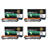 LINKYO Compatible High Yield Color Toner Cartridges Replacement For Brother TN221 TN225 (Black Cyan Magenta Yellow...
