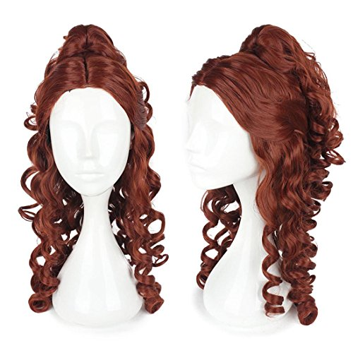 Halloween 2017 Disney Costumes Plus Size & Standard Women's Costume Characters - Women's Costume CharactersPrincess Belle Wig Adult Beauty And The Beast Cosplay Brown Women Hair