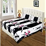 A Beautiful Black & White With Pink Touch Dancing Couple Double Bedsheet