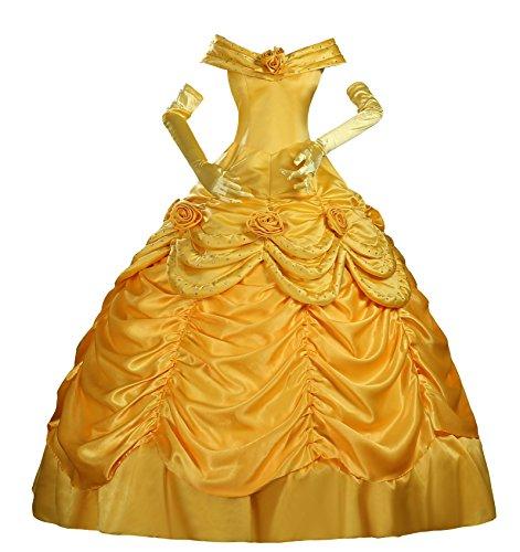 Halloween 2017 Disney Costumes Plus Size & Standard Women's Costume Characters - Women's Costume CharactersBeauty and Beast Princess Belle Cosplay Costume