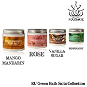 Royal Massage Set of 4 20oz Natural Sea Salt Mineral Bath Salts