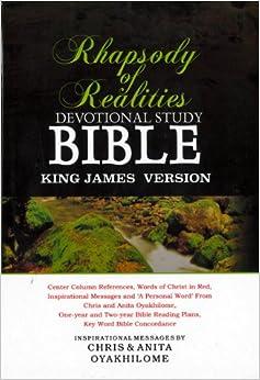 KJV Rhapsody Of Realities Devotional Bible: Chris and