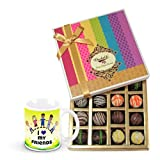 Valentine Chocholik Belgium Chocolates - Dessert Truffles Gift Box With Friendship Mug