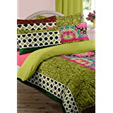 Bianca Espeda Eve Cotton Double Bedsheet With 2 Pillow Covers - Seagreen (BED474)