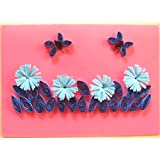 Handmade 3D Quilled Greeting Card - B00T0DRHGS