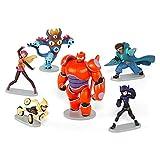 Disney Big Hero 6 Figure Set Baymax, Yokai, Wasabi No-Ginger, Fred, Honey Lemon & Go Go Tomago