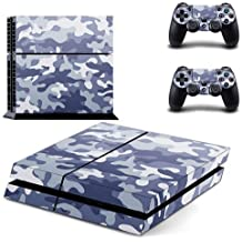 Elton Blue Camouflage Theme Decal 3M Skin Sticker Cover For PS4 Console And Controllers