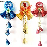 Generic Gold : A String Christmas Tree Decorations Jingle Bells Red Blue Gold Color Tinkle Bells With Ribbon For...