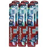 Colgate 360 Degree Enamel Health Whitening Toothbrush, Soft (Pack Of 6)