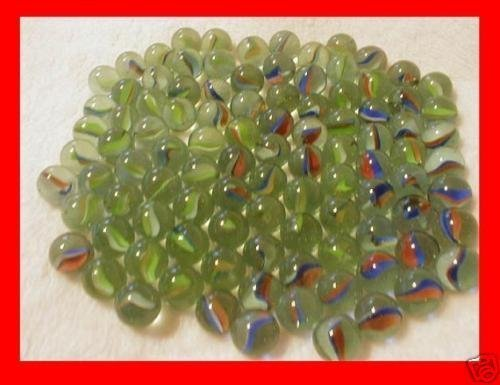 200 Pieces Cats Eyes Glass Marble / Sling Shot Ammo By Marble Craft Toy