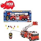 Huge Cable Control Fire Truck With Lights And Sounds & RC Squirting Water.