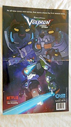 Voltron Legendary Defender 17 x 11 Folded Promo Poster - Lion Force Comics - 9.5 Grade - Brand New Poster