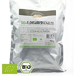 Golden Peanut Bio Premium Flohsamenschalen 99% Reinheit 500 g Beutel